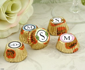Monogrammed Reese's Peanut Butter Cups
