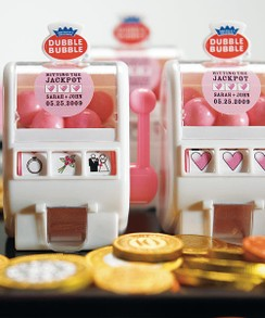 Bubble Gum Wedding Favors