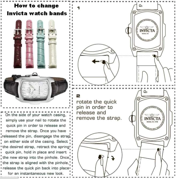How to change Invicta Strap
