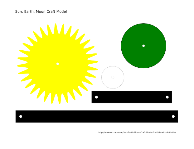 Sun Earth Moon Craft Model For Kids With Activities