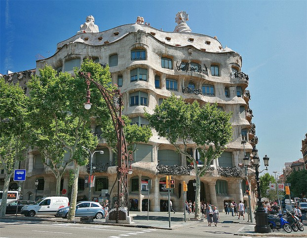 Spanish Architect Gaudi Buildings Casa Mila