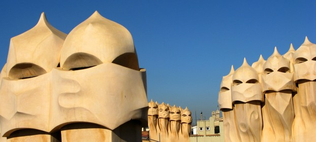 Casa Mila (La Pedrera) Chimneys on the Rooftop