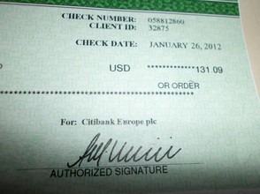 One of My Checks for Blogging