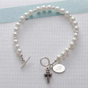 Personalized Cross Bracelet for Her