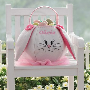 Personalized Easter Bunny Basket