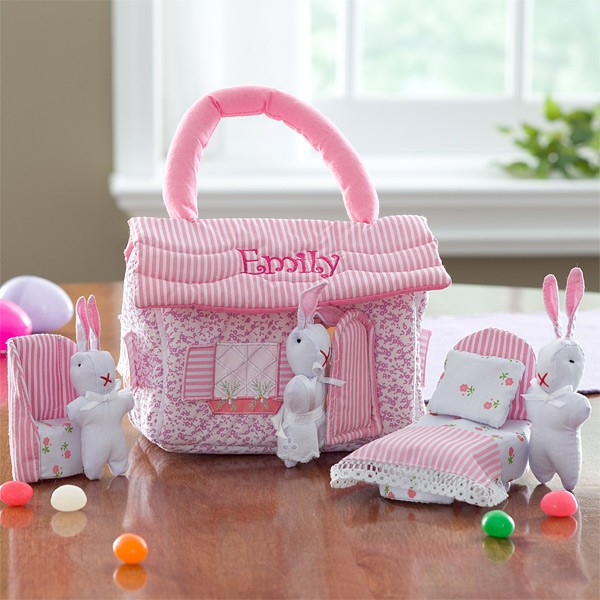 Personalized easter gifts for kids embroidered cotton tail cottage negle Choice Image