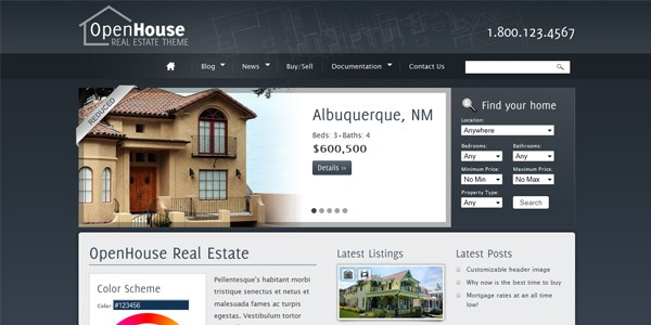 Open House Real Estate Wordpress Theme