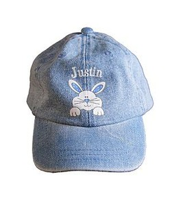 Denim Bunny Baseball Cap
