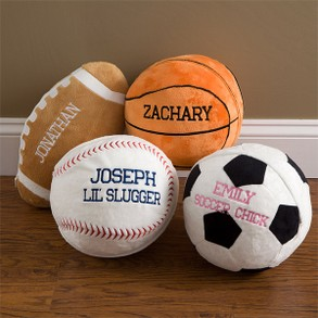 Personalized Plush Sports Pillow