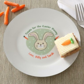 Personalized Easter Bunny Carrot Plate