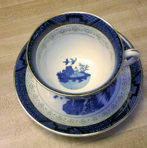 Blue Willow Cup and Saucer