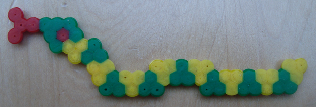 Fuse Bead Snake after Ironing