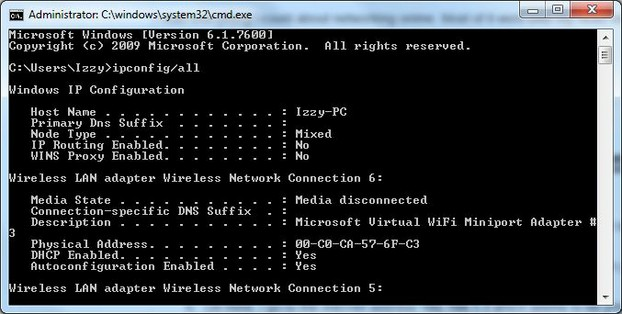 what cmd looks like with command prompt