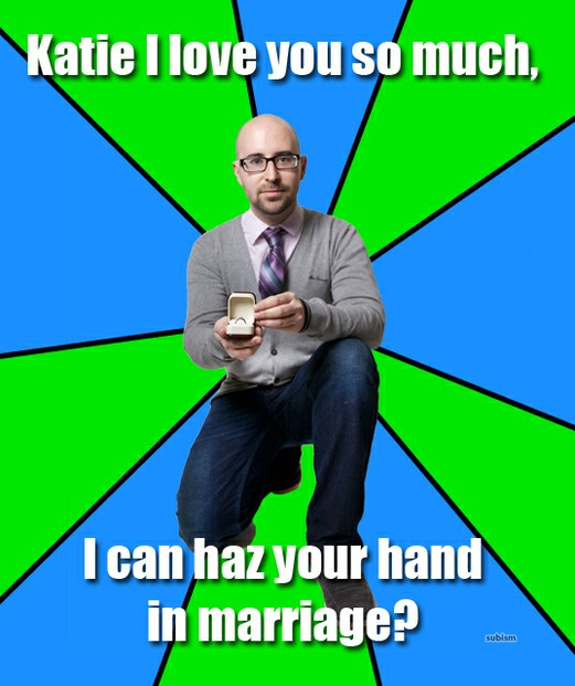 Proposal via Internet Meme