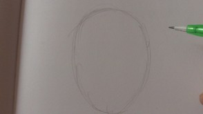 Draw A Oval Shape For The Head