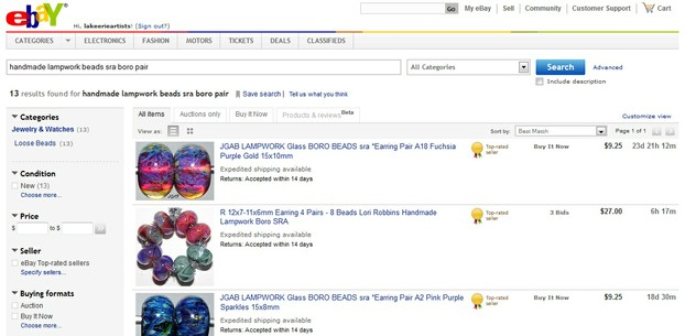 Narrowing the Ebay Search a Third Time