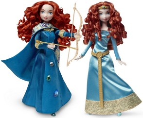 Mattel versions of Princess Merida dolls