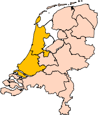 The area in orange is Holland