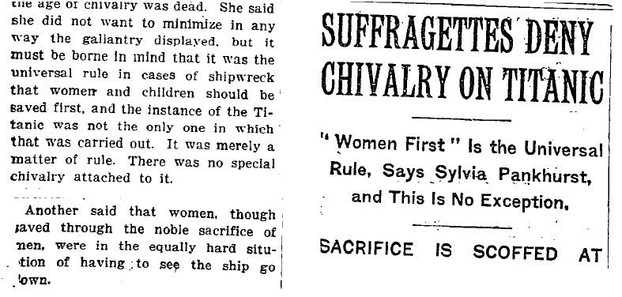 New York Times April 21st 1912