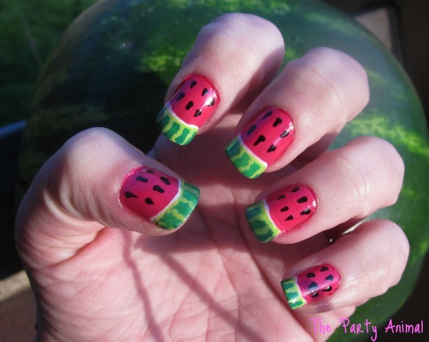 How to create a Watermelon Nail Design