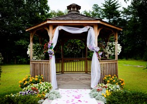 A Gazebo Makes a Great Place to Entertain Formally