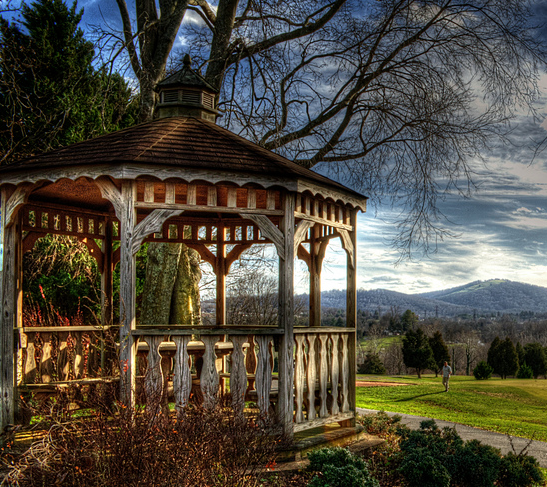 Beauty in an Older Gazebo