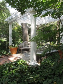 A Pergola with a Seating Area