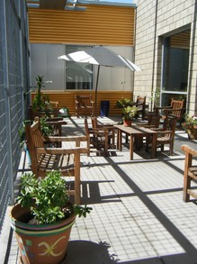 Patio Adjoining a Library
