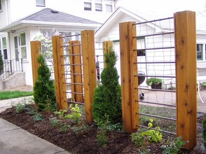 Interesting Mix of Wood and Metal Arbor