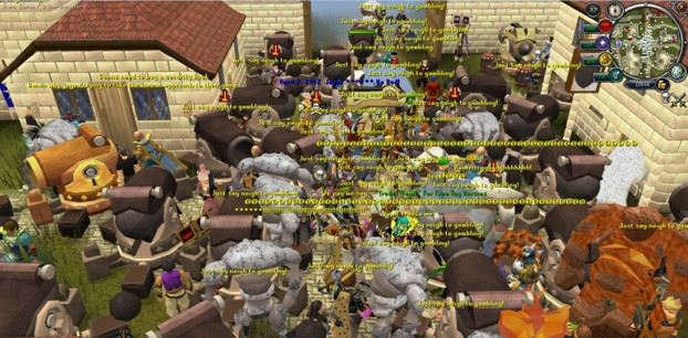 Image: Runescape Players Protest in Falador World 66
