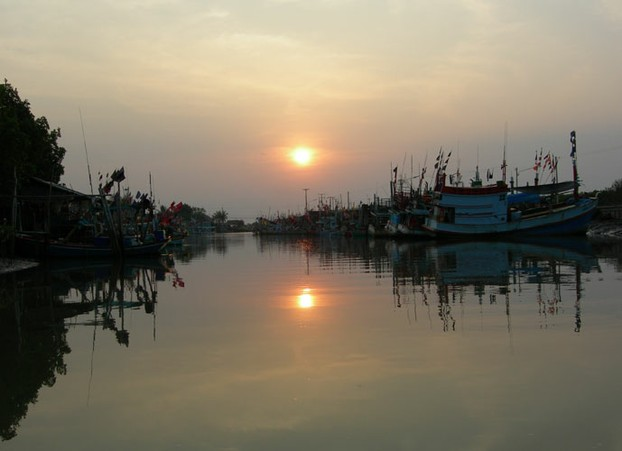 Sunset at Laem Pak Bia