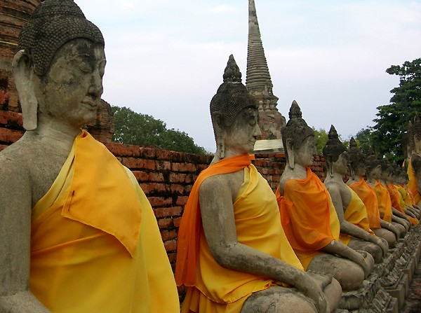 Row of Buddha images