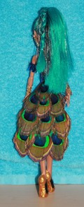 Nefera Doll in Peacock dress