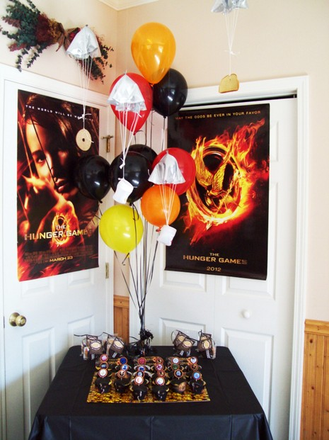 Hunger Games Cake and Favor Table
