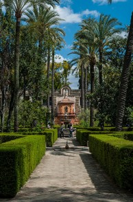 Originally a Moorish fort, The Alcázar of Seville is a royal palace in Seville, Spain.