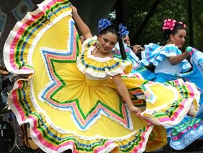Dancers at Cinco de Mayo Celebration in Washington DC