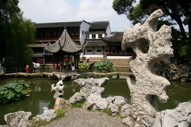 The Lion Grove Garden in Suzhou is well-known for uniquely shaped rocks.