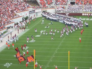 Virginia Tech Hokies take the field 2004 WMU