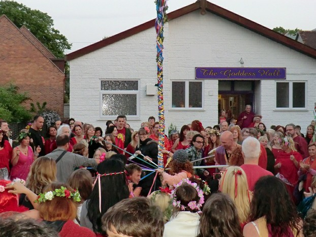 Beltane May Pole in Glastonbury