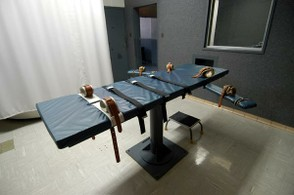 Image: Lethal injection table.