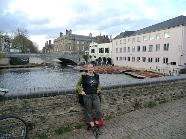 Image: Jo Harrington at a Syd Barrett site in Cambridge