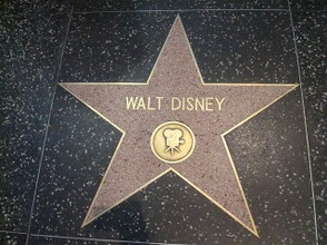 One of two stars dedidacet to the great master on the Hollywood Walk of Fame
