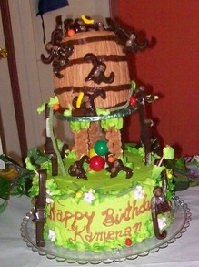 Monkeys in a Barrel Cake