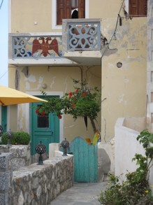 Mediterranean atmosphere everywhere, Olympos, Karpathos
