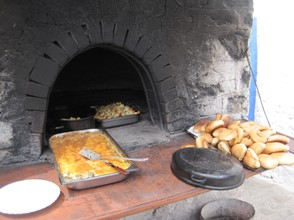 Open air cooking, Olympos, Karpathos