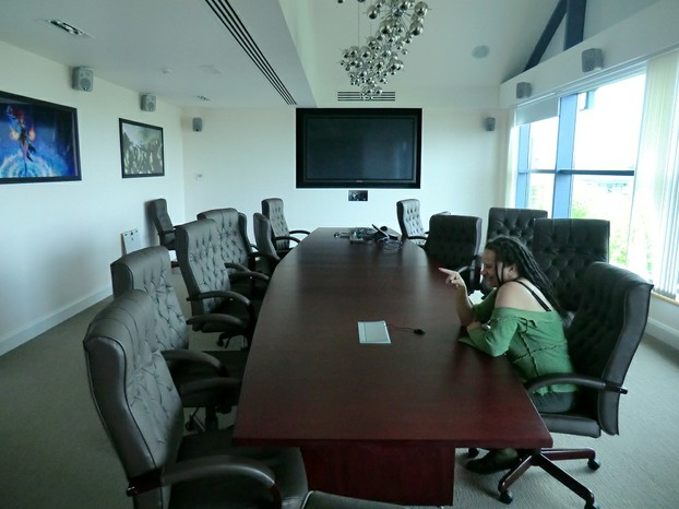 Image:  Me in the Jagex Boardroom.