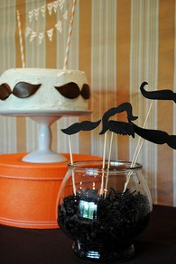 Little Man Mustache Cake