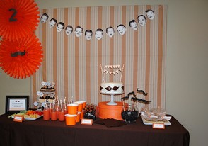 Little Man Mustache Party Cake Table