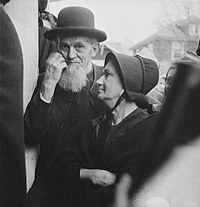 Old Mennonite Couple, 1942