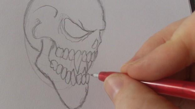 How To Draw Vampire Skulls